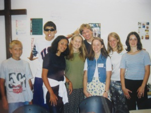 Here are a few of the students I taught in Croatia, along with the THREE other teachers with whom I taught.