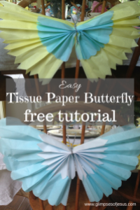 Easy Tissue Paper Buttlerfly Free Tutorial