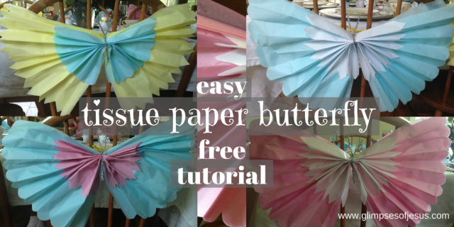 Tissue Paper Butterfly Tutorial
